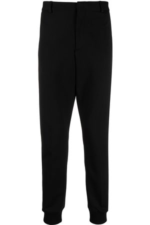 Karl Lagerfeld Trousers - Logo-tape punto trousers