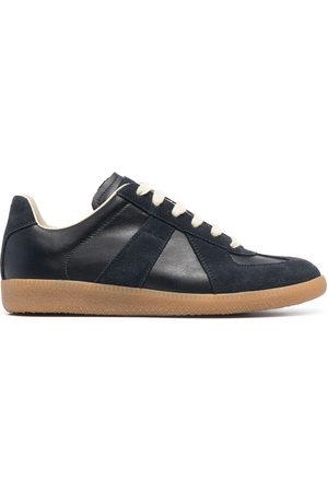 Maison Margiela Suede-trim low-top sneakers