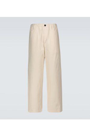 Jil Sander Wide-leg cotton pants