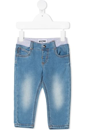 Moschino Elasticated slim-cut jeans