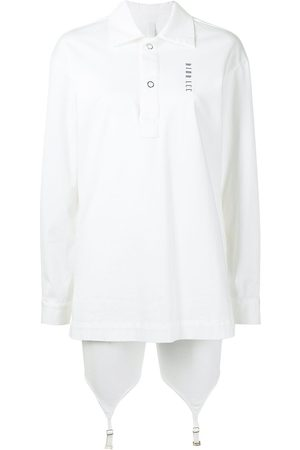 DION LEE Logo-print snap fastening shirt