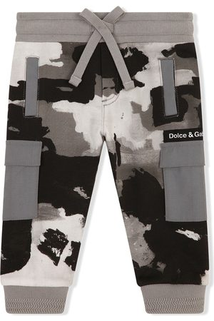 Dolce & Gabbana Kids Trousers - Camouflage-print track pants