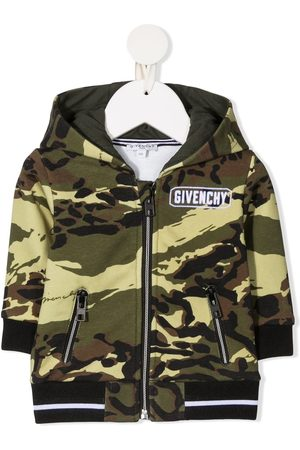 Givenchy Camouflage-print zip-up hoodie