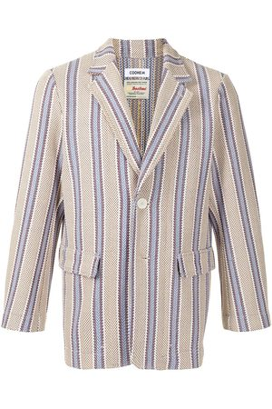 Coohem Tech tweed striped blazer