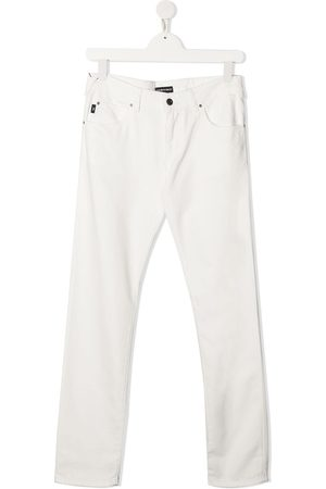 Emporio Armani TEEN slim-cut chino trousers