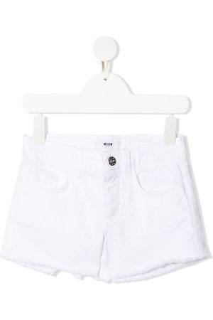 Msgm Raw-hem denim shorts