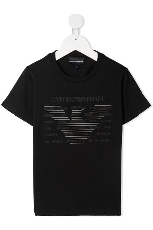 Emporio Armani Eagle-print cotton T-shirt