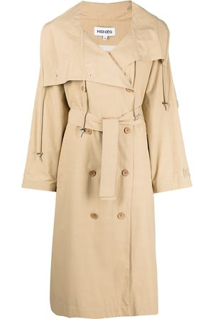 Kenzo Double-breasted belted trench coat