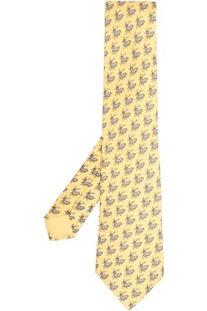 Hermès Men Neckties - 2000s pre-owned deer-print silk tie