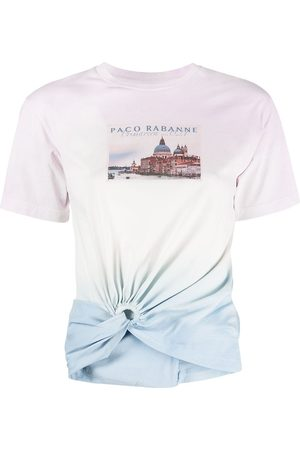 Paco rabanne Graphic-print ruched T-shirt