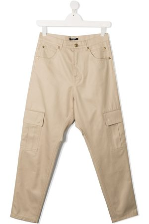 Balmain TEEN cargo pocket straight-leg jeans