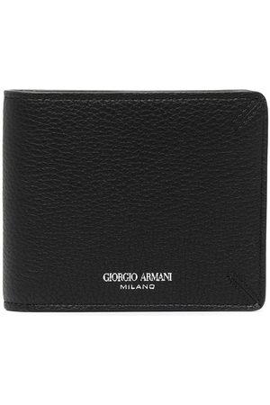 Armani Men Wallets - Engraved-logo bifold wallet