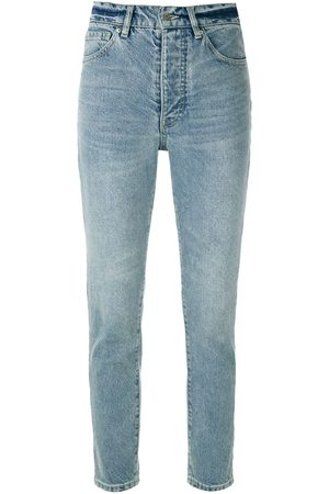Armani Women Skinny - High-rise cropped jeans