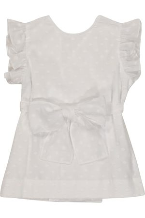 Il gufo Ruffled cotton top
