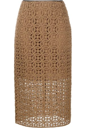 Dorothee Schumacher Bold Statement crochet midi skirt