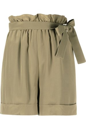 FEDERICA TOSI Women Shorts - Belted pleated shorts