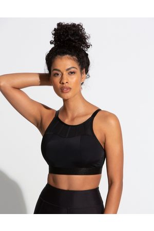 Pour Moi Fuller Bust Energy high neck padded non wired sports bra in