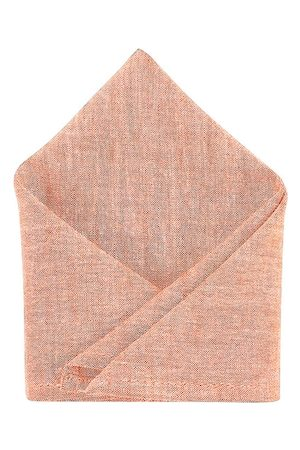 Blacksmith Men Peach-Colored Self Design Sustainable Pocket Square