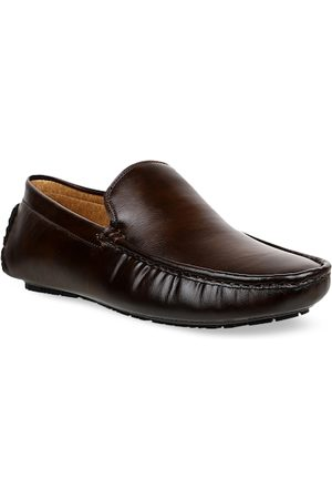 Carlton London Men Brown Solid Driving Shoes