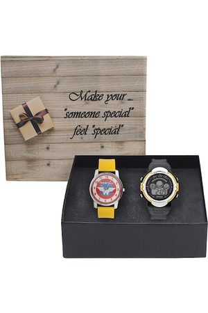 Fantasy World Unisex Kids Pack Of 2 Analogue Watch Combo FWGiftset131-008-YL-YS-02-YL
