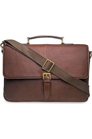 Hidesign Men Brown Solid Leather Laptop Bag