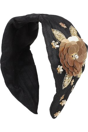 Anekaant Women Black Art Silk Embellished Hairband