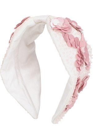 Anekaant White & Pink Embellished Hairband