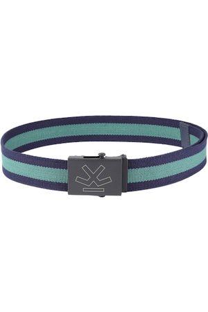 WROGN Men Green & Blue Striped Belt