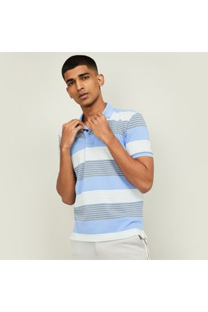 Fahrenheit Men Striped Regular Fit Polo T-shirt