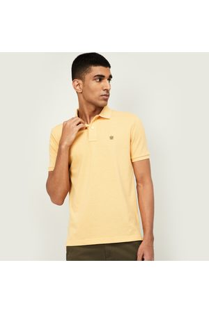 Fahrenheit Men Solid Slim Fit Polo T-shirt