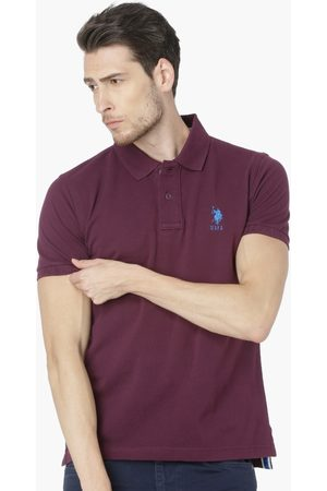 U.S. Polo Assn. Regular Fit Solid Polo Neck T-shirt