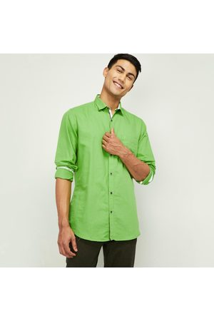VH Sports Men Solid Slim Fit Casual Shirt