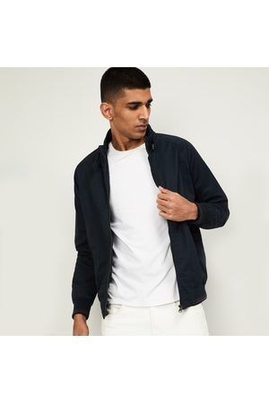 Fahrenheit Men Solid Full Sleeves Bomber Jacket