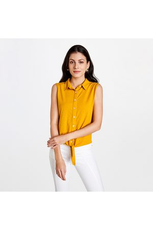 AND Women Solid Regular Fit Sleeveless Shirt