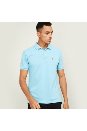 Fahrenheit Men Textured Slim Fit Polo T-shirt