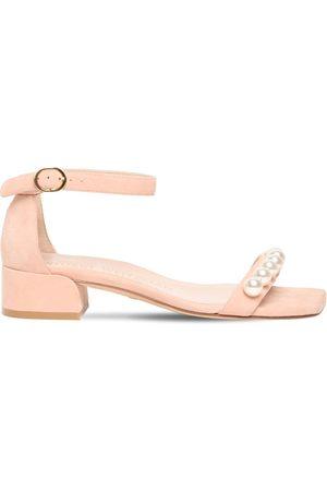 Stuart Weitzman 35mm Nudistjune Suede Sandals