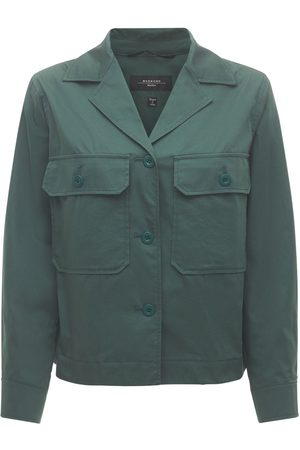 Max Mara Cotton Safari Jacket W/ Front Pockets