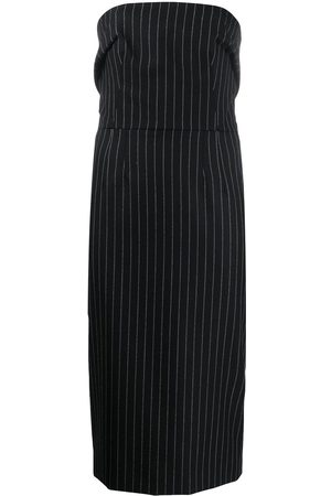Dolce & Gabbana Women Strapless Dresses - Pinstriped strapless fitted dress