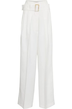 Golden Goose Women Wide Leg Trousers - Cleofe belted high-rise wide-leg pants