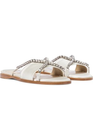 Jimmy Choo Aadi embellished satin sandals