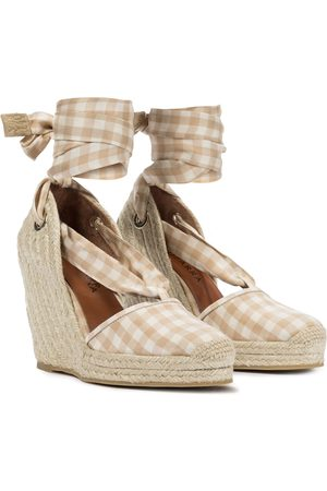 Altuzarra Women Sandals - Stevie checked espadrille wedges