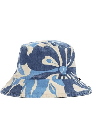 Il gufo Printed cotton and linen bucket hat