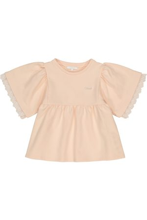 Chloé Cotton-blend jersey top