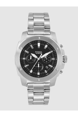 Fossil Men Black Mega Machine Chronograph Watch FS5716