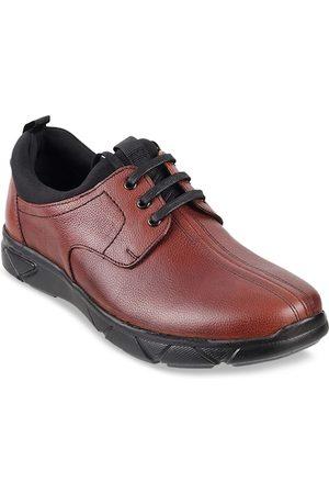 Metro Men Brown Leather Derbys