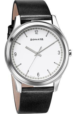 Sonata Men White Analogue Watch 7135SL04
