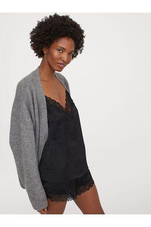 H&M Women Black Pyjama Cami Top and Shorts