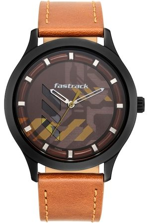 Fastrack Men Brown Analogue Watch 3250NL02