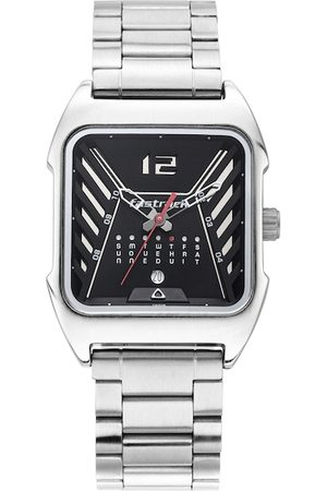 Fastrack Men Black & Silver-Toned Analogue Watch