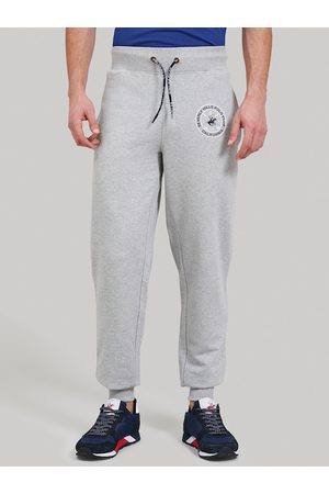 Beverly Hills Polo Club Men Grey Solid Joggers